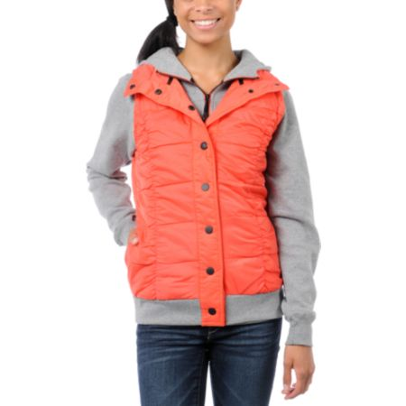 Fox Girls Network Orange Vest & Hoodie