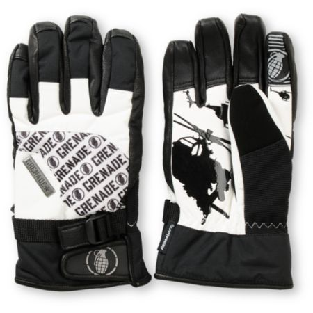 Grenade Huey Black & White 2013 Snowboard Gloves