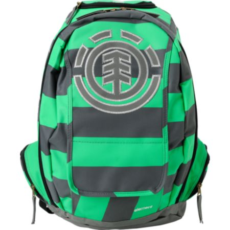 Element Gamine Green & Grey Stripe Backpack