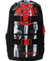 Element Upward Smoke Black & Red Skate Backpack