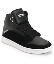 Supra S1W Stevie Williams Black Suede & Leather Skate Shoe
