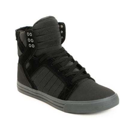 Supra Skytop Black TUF & Grey Skate Shoe