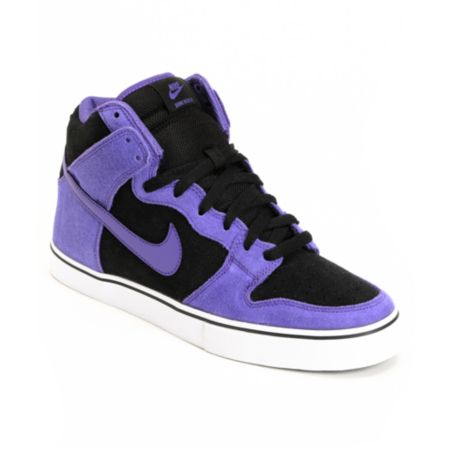 Nike Dunk High LR Black & Varsity Purple Shoe