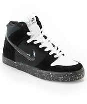 Nike SB Dunk High LR Black, White & Skunk Skate Shoe