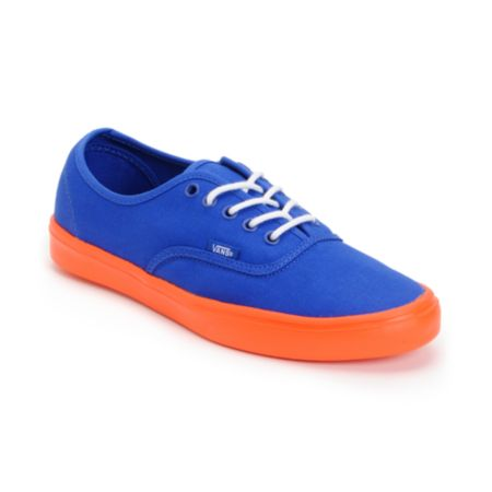 Vans Authentic Lite Blue & Orange Shoe