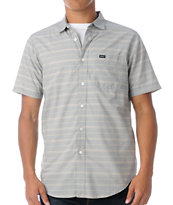 RVCA Mason Blue Woven Button Up Shirt