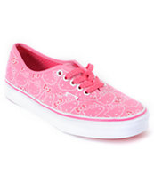 Hello Kitty Vans Hawaiian Pink Girls Authentic Shoe