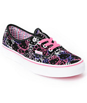 Hello Kitty Vans Passion Flower Pink Girls Authentic Shoe