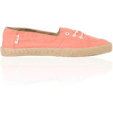 Vans Girls Palisades Vulcanized Fusion Coral & Hemp Slip On Shoe