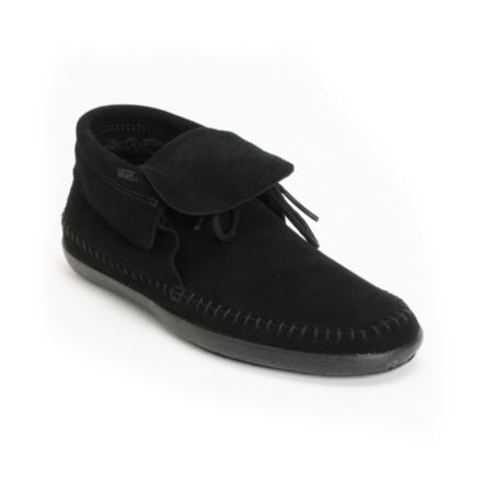 Vans Mohikan Mid Black & Fleece Girls Slip On Shoe
