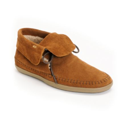 Vans Mohikan Mid Brown & Fleece Girls Slip On Shoe
