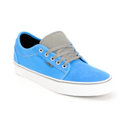 Vans Chukka Low Bright Blue & Pewter Skate Shoe