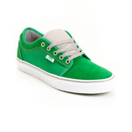 Vans Chukka Low Green & White Skate Shoe