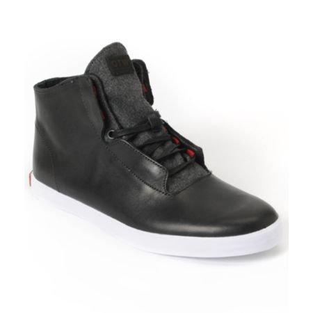 Vans OTW Stovepipe Black & White Leather Shoe