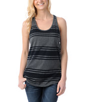 Zine Girls Black & Charcoal Racerback Tank Top