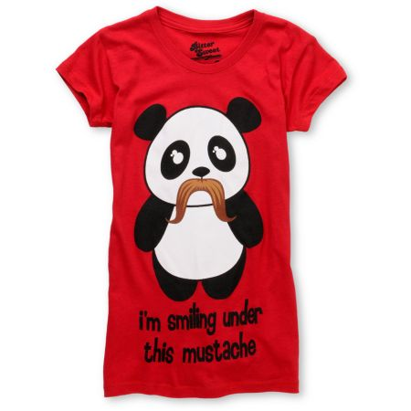 Bitter Sweet Under Mustache Red Tee Shirt