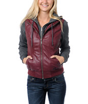 Dravus Girls Meridian Red Hooded Vest Jacket