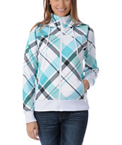 Empyre Girls Timber Teal Plaid Tech Fleece Jacket