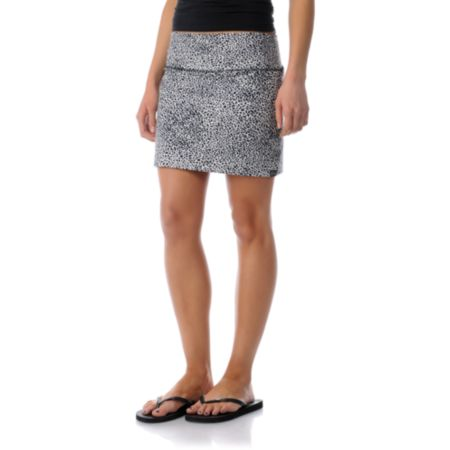 Billabong Girls Nights Free Cheetah Print Mini Skirt