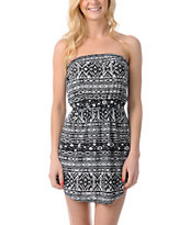 Billabong Count On You Native Print Strapless Dress