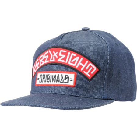REBEL8 Originals Denim Snapback Hat