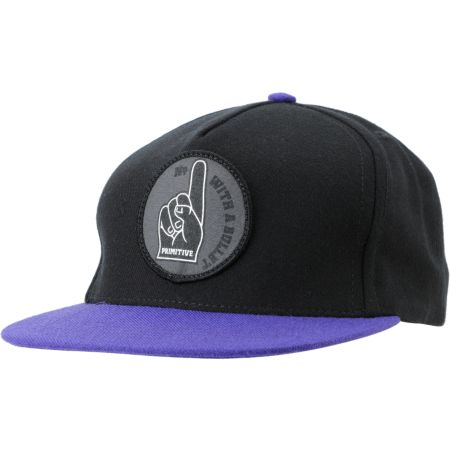 Primitive Number 1 Black & Purple Snapback Hat