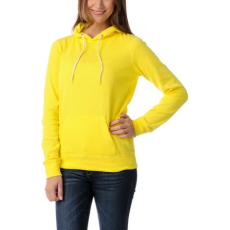 Zine Girls Buttercup Yellow Pullover Hoodie