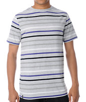 Empyre SK Grey Black & Purple Striped Tee Shirt
