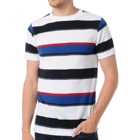 Empyre Battleship Striped White Tee Shirt