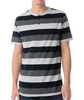 Empyre Sultan Grey Stripe Henley Shirt