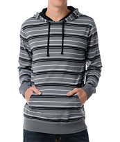 Empyre BTW Grey Stripe Pullover Hooded Shirt