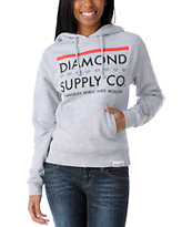 Diamond Supply Girls Roots Grey Pullover Hoodie