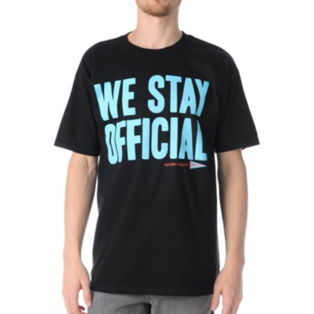 Official We Stay Official Black Tee Shirt
