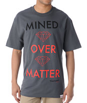 Diamond Supply Mined Over Matter Charcoal Tee Shirt
