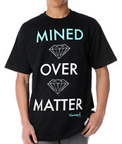 Diamond Supply Mined Over Matter Black & Mint Tee Shirt