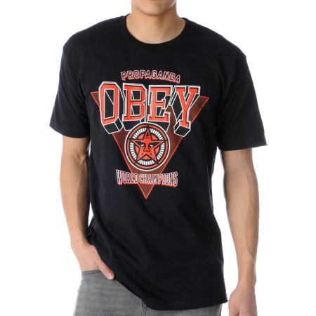 Obey World Champions Black Tee Shirt