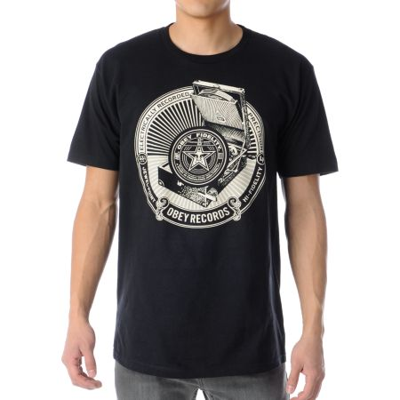 Obey Jewel Point LP Black Tee Shirt