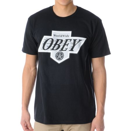 Obey Great One Black Tee Shirt