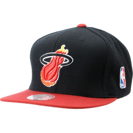 NBA Mitchell and Ness Miami Heat Logo Snapback Hat
