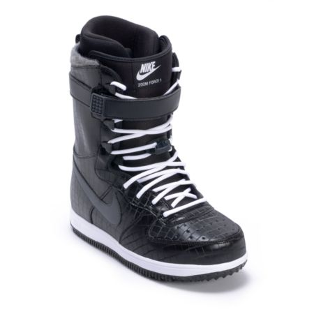 Nike Zoom Force 1 Black & White Snowboard Boots 2013