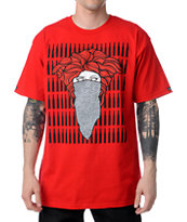 Crooks and Castles Crackle Bandito Red Tee Shirt