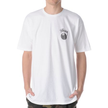 Stussy 8 Ball White Tee Shirt