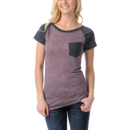 Empyre Petra Blackberry Raglan Sleeve Tee Shirt