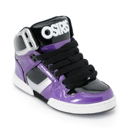 Osiris Kids NYC 83 Purple, Silver & Black Skate Shoe