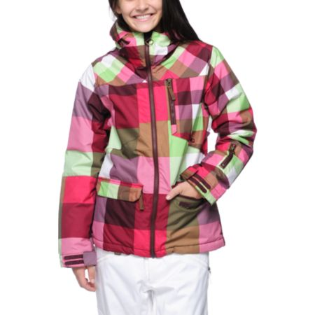 Billabong Check Your Booty 10K Girls 2013 Snowboard Jacket