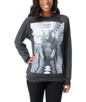 Glamour Kills Bearly Human Charcoal Grey Crew Neck Sweatshirt