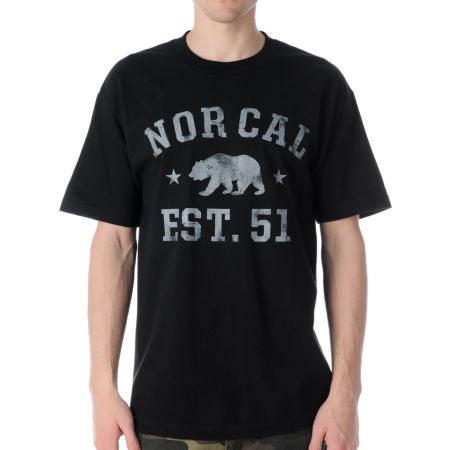 Nor Cal Sophomore Black Tee Shirt
