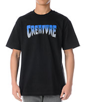 Creature Green Black Tee Shirt