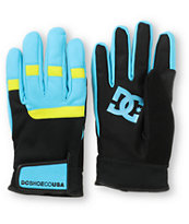 DC Antuco 2013 Black & Teal Park Gloves