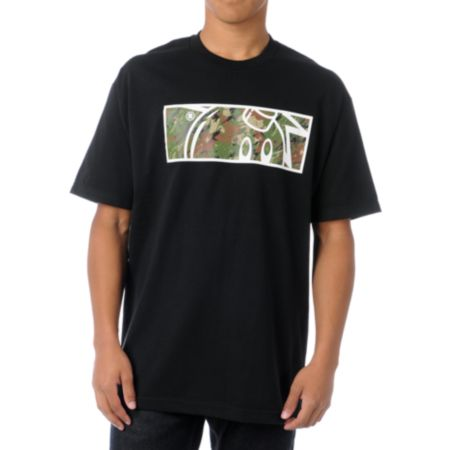 The Hundreds Camo Rectangle Adam Black Tee Shirt